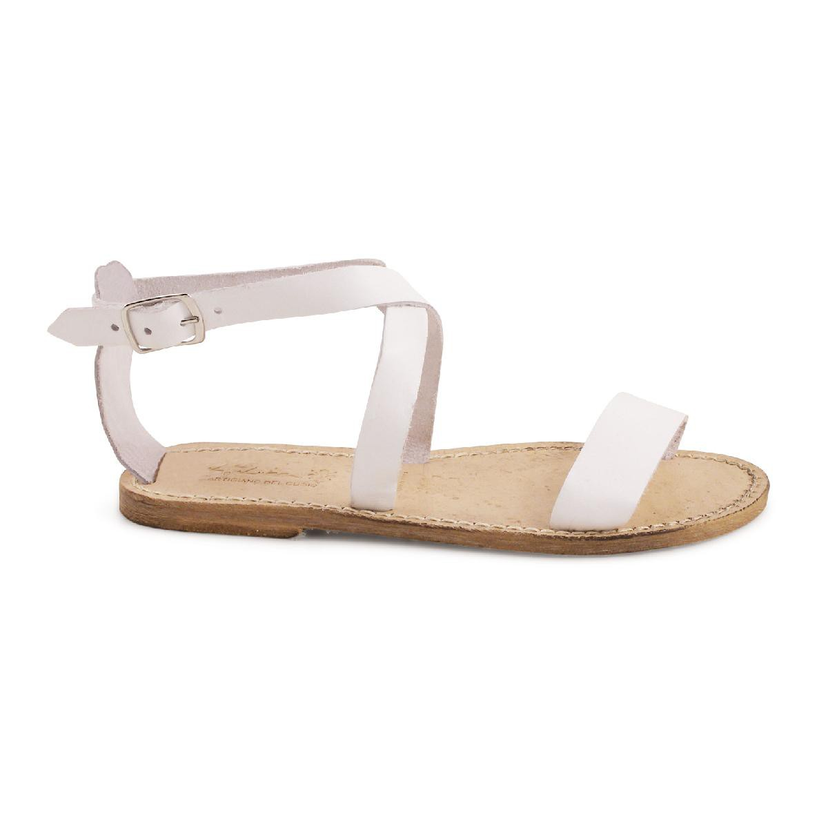 sandales femme plates en cuir effet vintage gianluca l 39 artisan du cuir. Black Bedroom Furniture Sets. Home Design Ideas