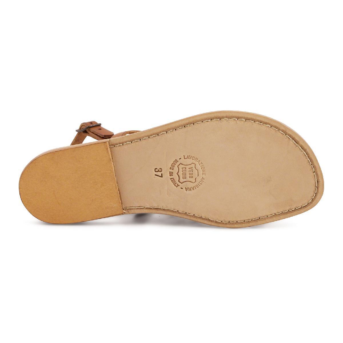 flache sandalen aus echtem leder hand gefertigt in italien gianluca das leder handwerker. Black Bedroom Furniture Sets. Home Design Ideas