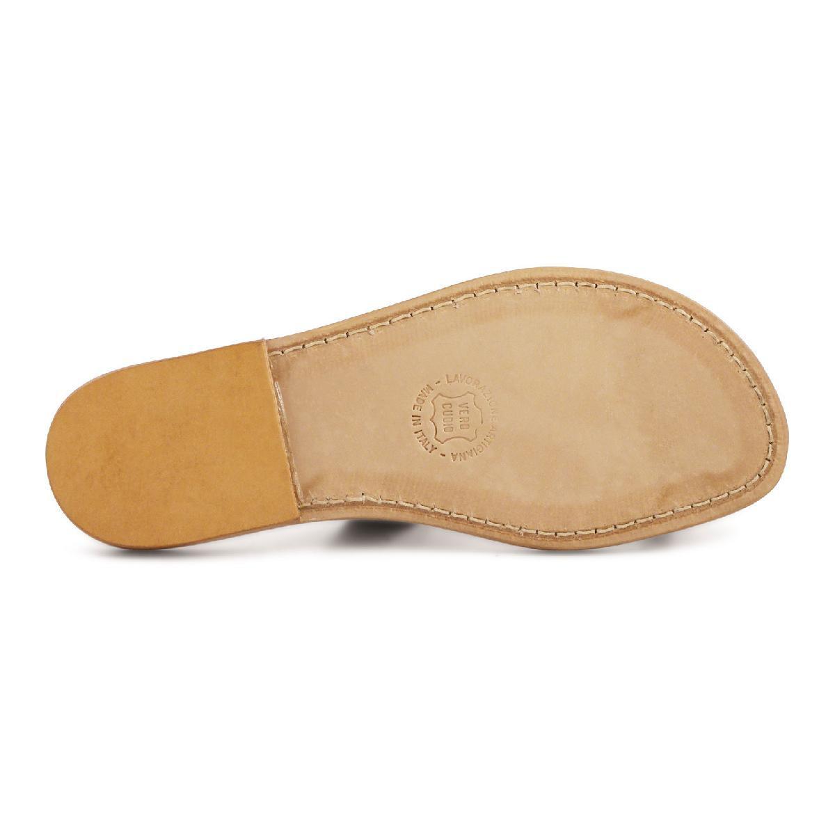 braune flip flop sandalen aus leder in italien von hand. Black Bedroom Furniture Sets. Home Design Ideas