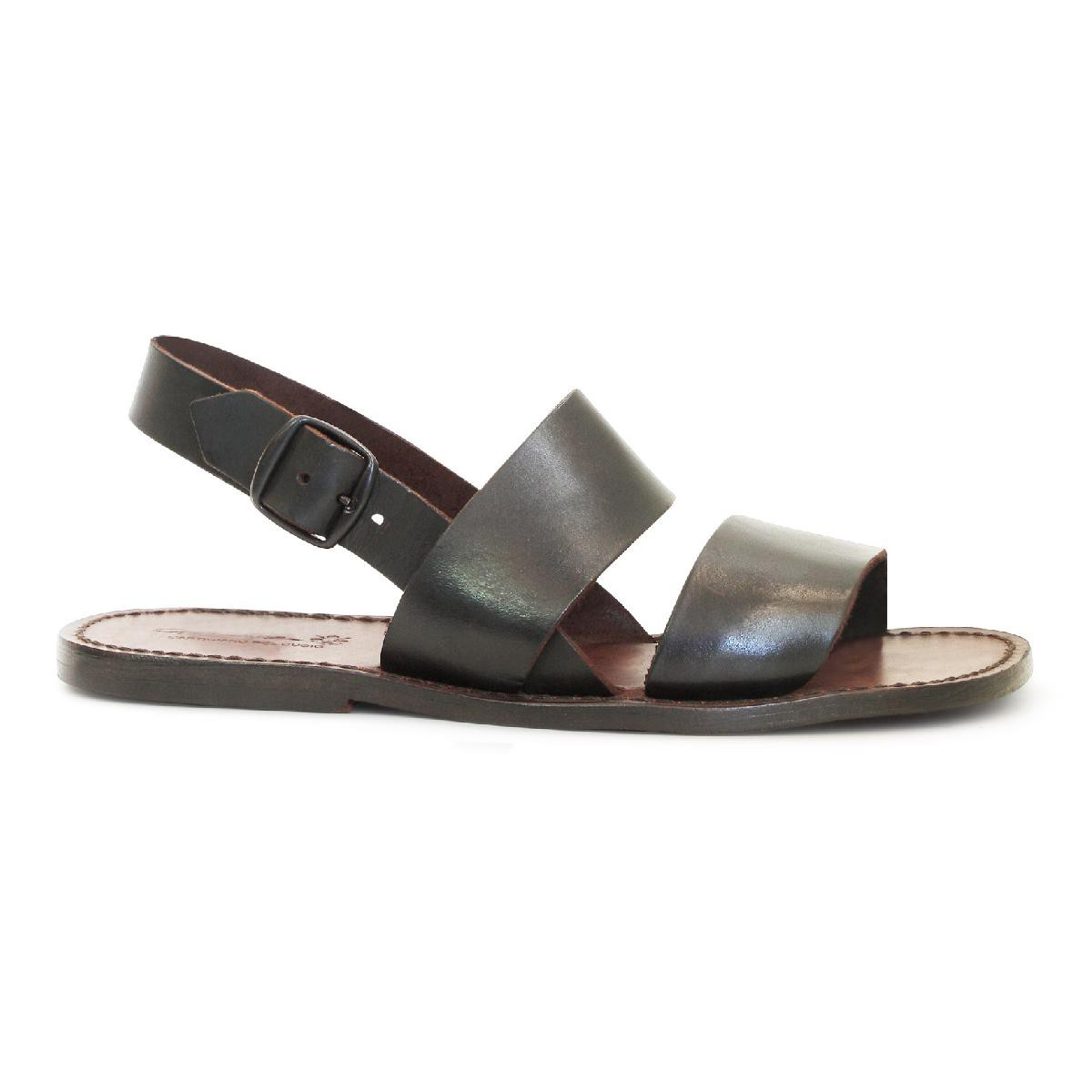 Brown Leather Franciscan Sandals For Men Gianluca The