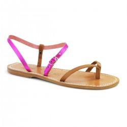 Zweifarbige Damen-Flip-Flops