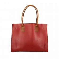 Shopper Leder rut und braun für damen Handgemacht