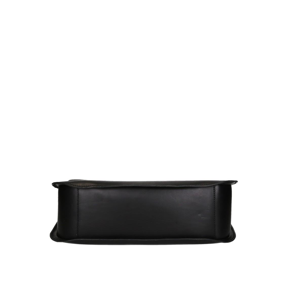 Handmade black leather shoulder bag long strap | Gianluca - The ...