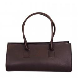 Bolso de mano gran de cuero marrón artisanales