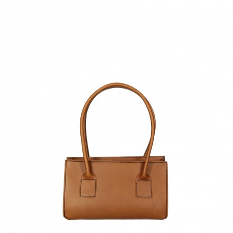 Petit sac à main en cuir beige pour femmes fait à la main