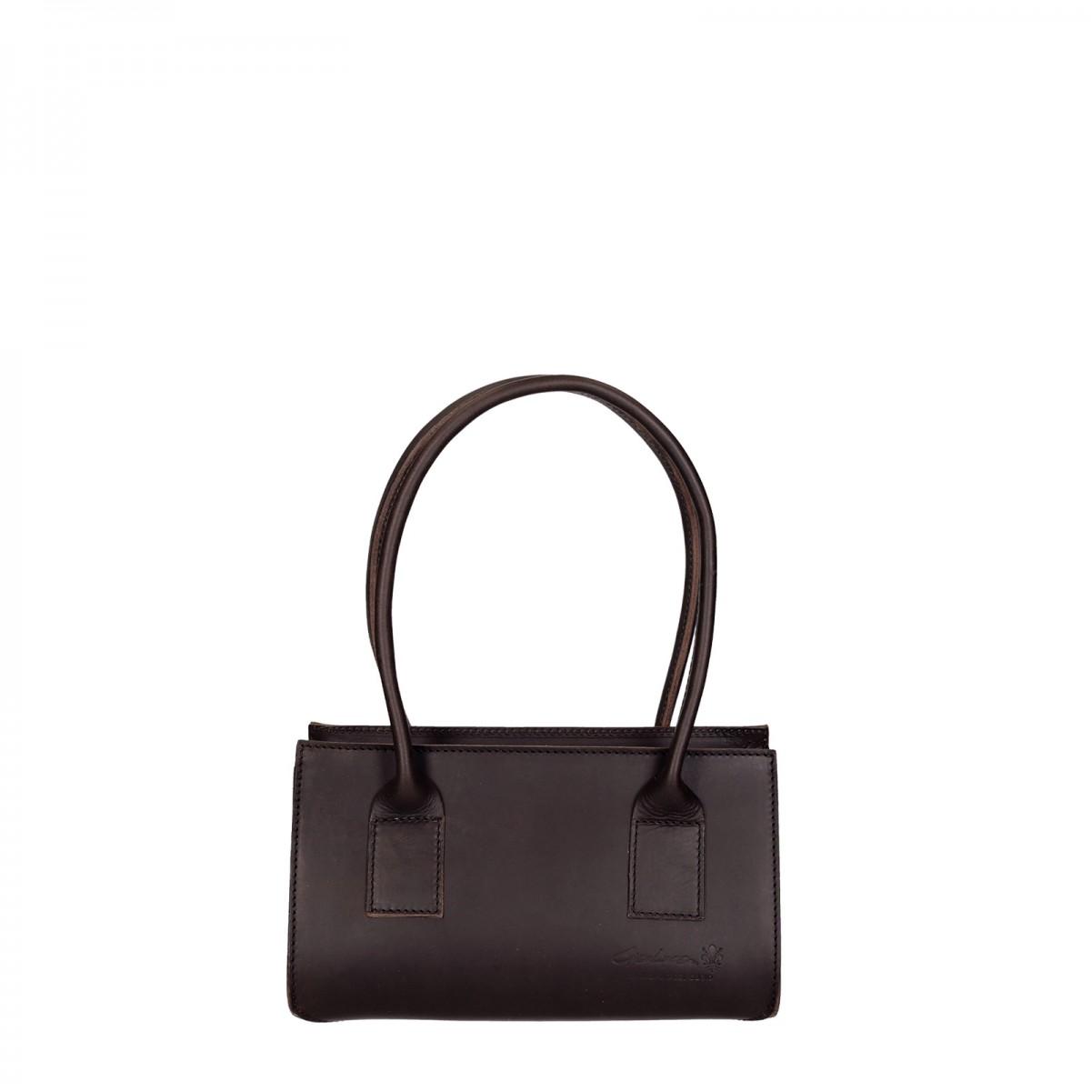 petit sac main en cuir marron artisanale pour femmes gianluca l 39 artisan du cuir. Black Bedroom Furniture Sets. Home Design Ideas