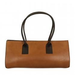 Zweifarbige, Hand gefertigte Damen-Handtasche aus Leder