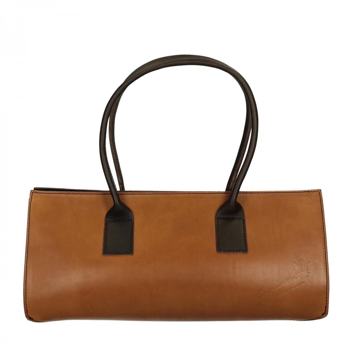zweifarbige hand gefertigte damen handtasche aus leder. Black Bedroom Furniture Sets. Home Design Ideas