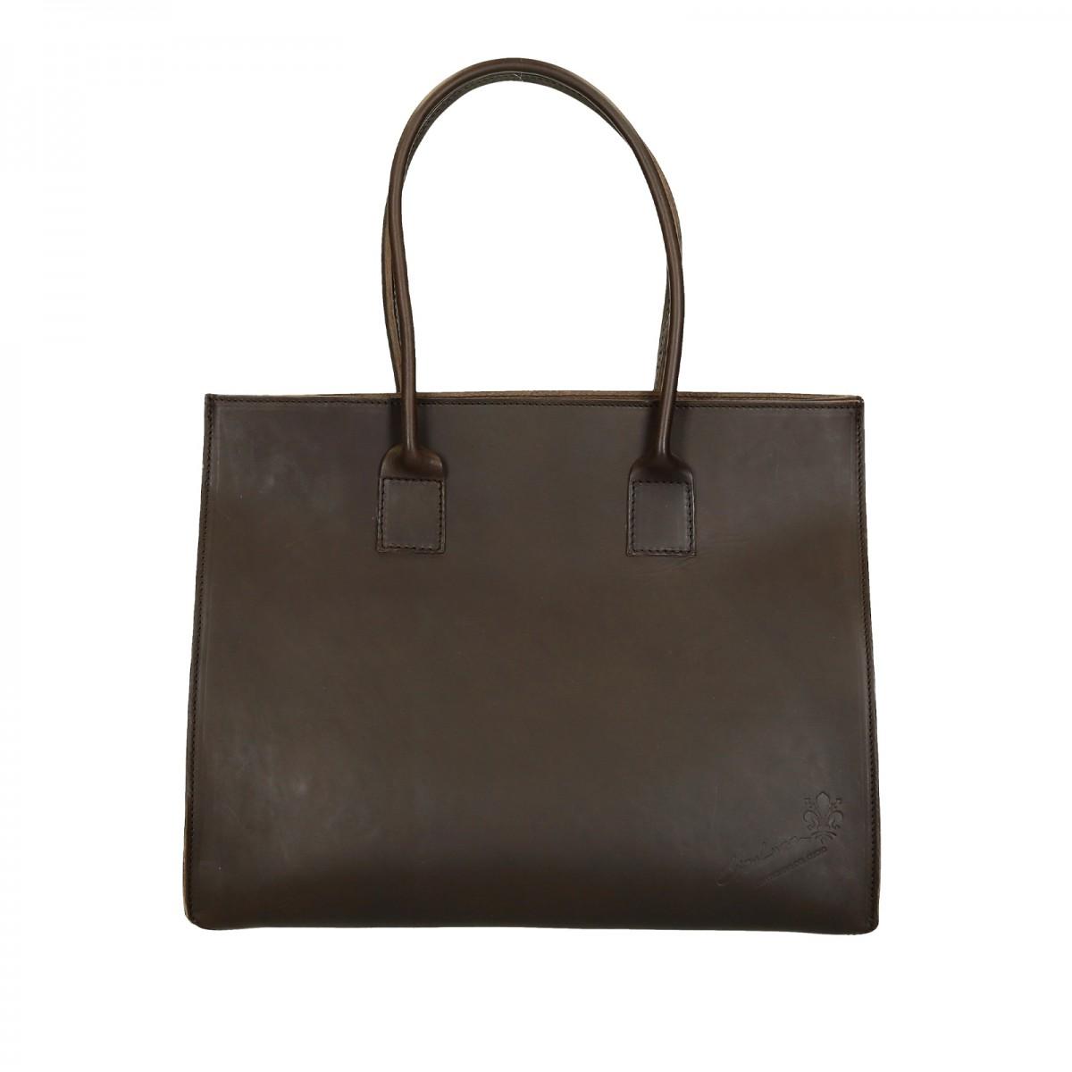 a0a052eeea985 Hand gefertigte Shopping-Tasche für Damen aus braunem Leder ...