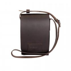 Hand gefertigte kleine Schulter-Tasche aus braunem Leder