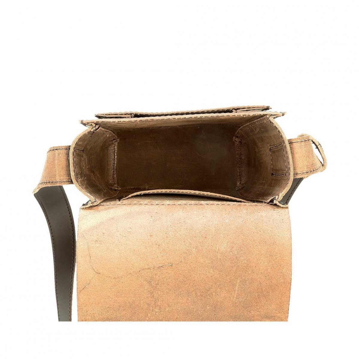Brown Leather Cross Body Shoulder Bag Handmade Gianluca