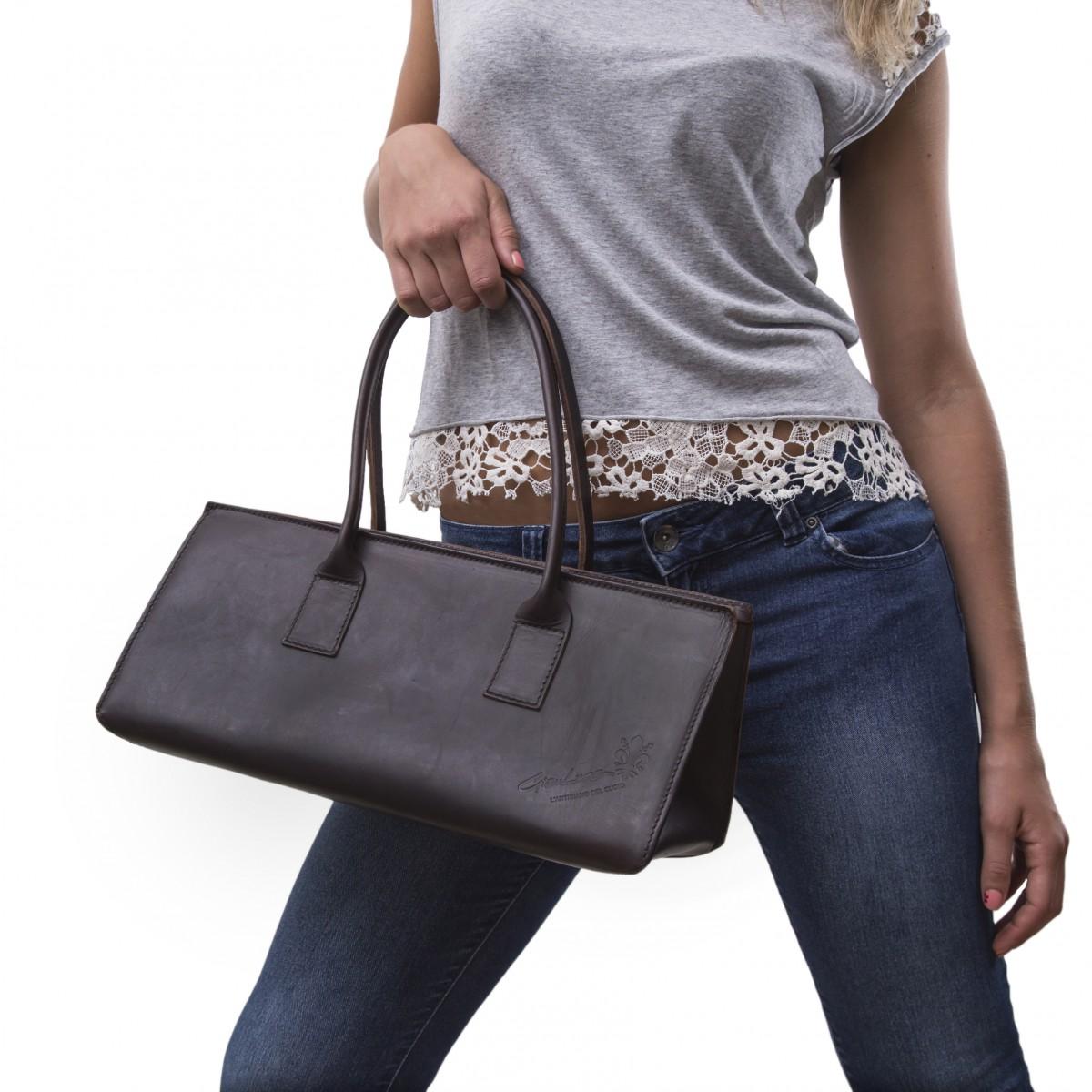 grand sac main en cuir marron pour femmes fait la main. Black Bedroom Furniture Sets. Home Design Ideas
