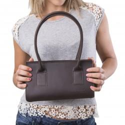 Petit sac à main en cuir marron artisanale pour femmes