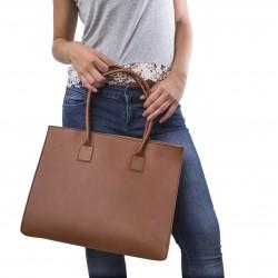 Shopper aus Leder für damen handtaschen handgefertigt