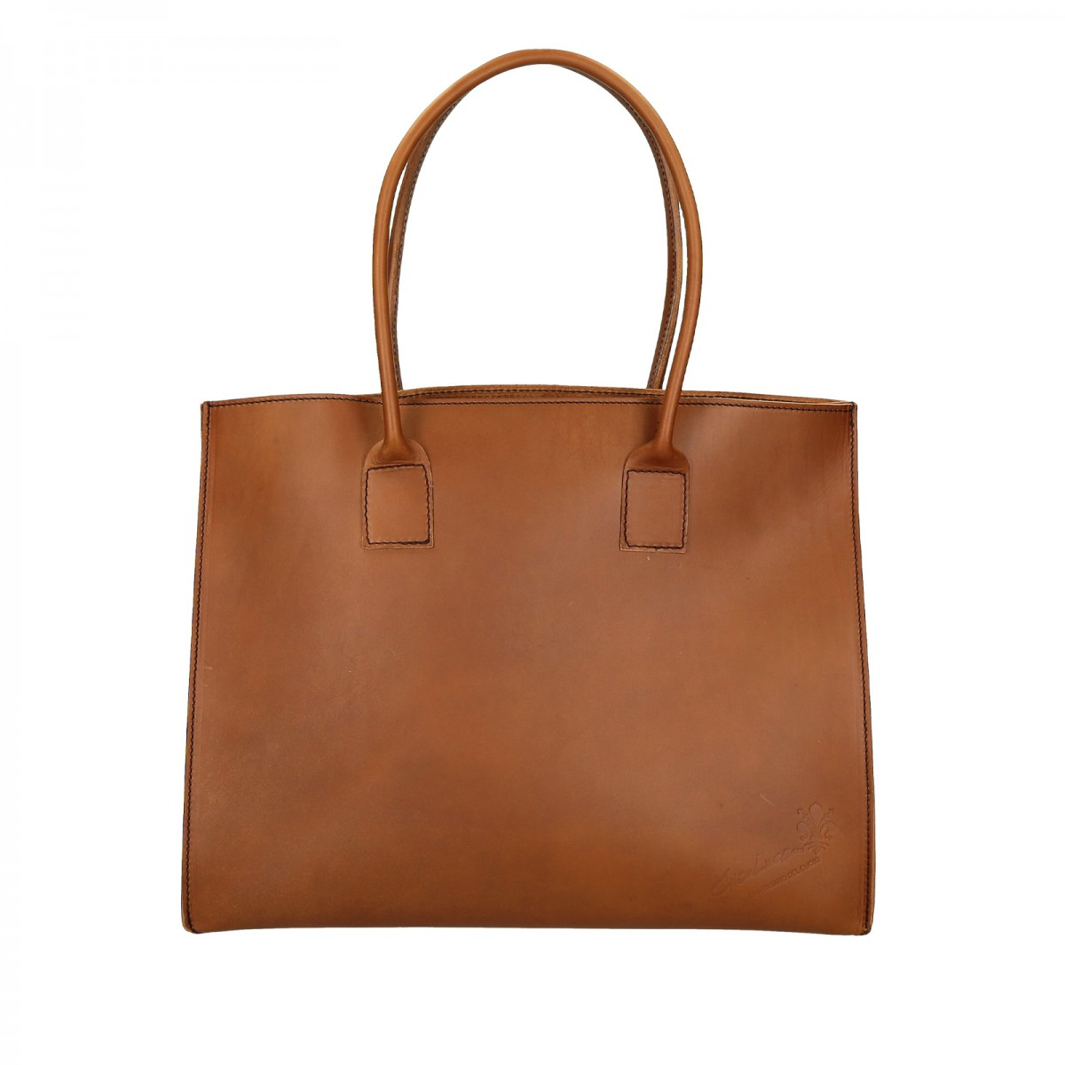 handmade tote bag for women in tan leather gianluca the leather craftsman. Black Bedroom Furniture Sets. Home Design Ideas