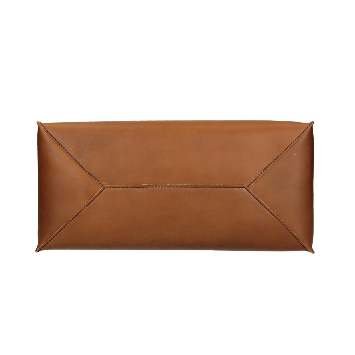 360f2b03217 ... Bolso shopping de piel marrón claro hechos a mano