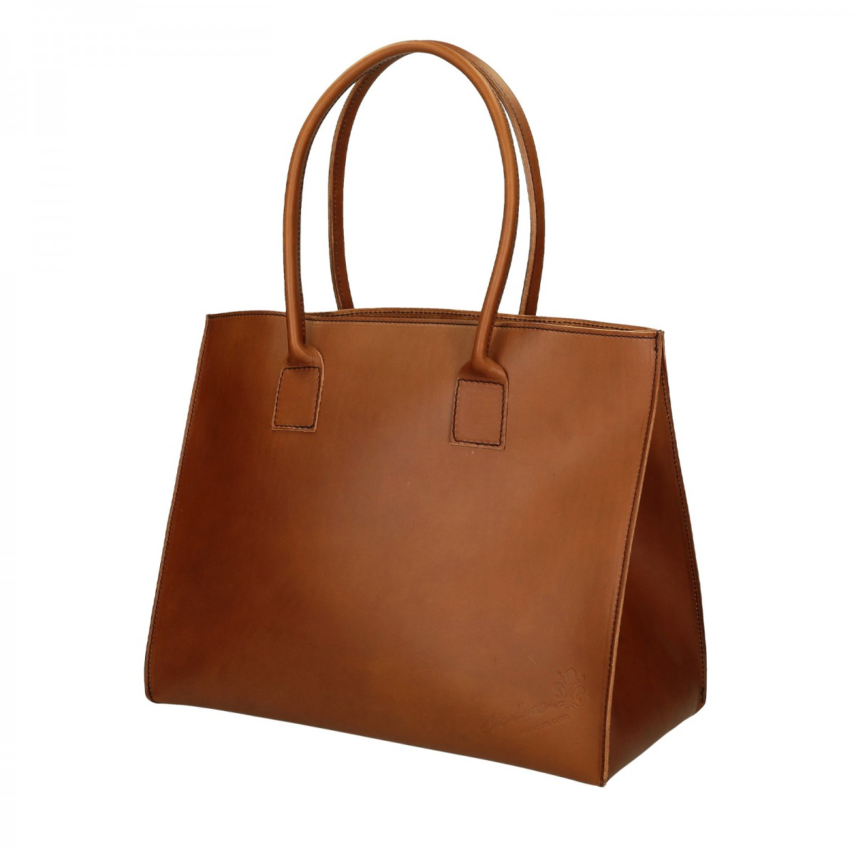 Handmade Tote Bag For Women In Tan Leather Gianluca