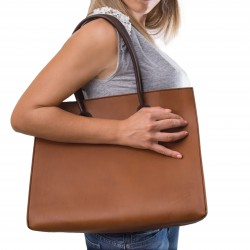 Bolso shopping de piel bicolor hechos a mano