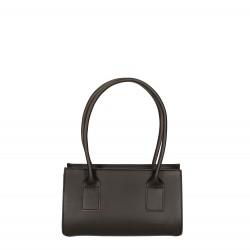 Hand gefertigte kleine Handtasche für Damen aus schwarzem Leder