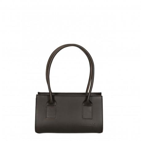 Schwarz Leder kleine Handtasche für damen Handgemacht