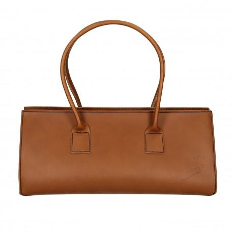 Brown leather handbag for women Handmade in Italy