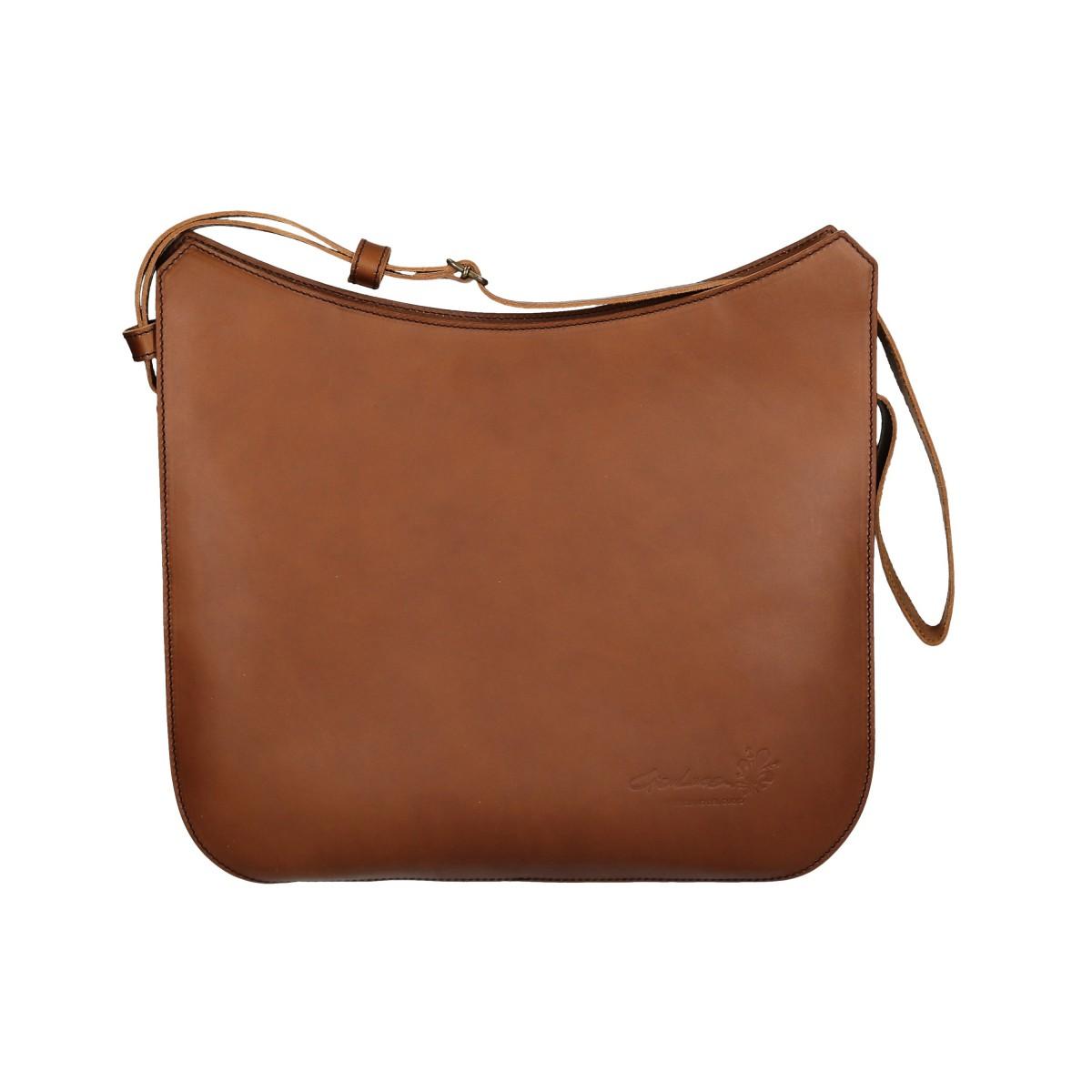 Handmade vintage leather shoulder bags long strap | Gianluca - The ...