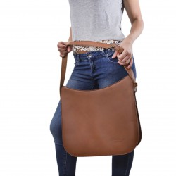 Handmade vintage leather shoulder bags long strap