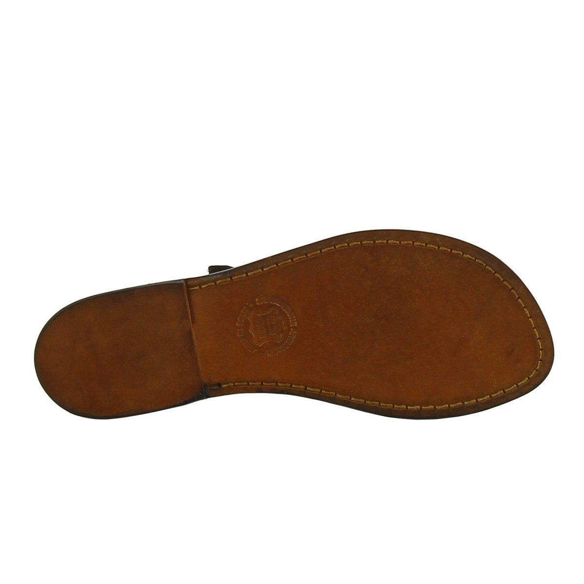 f08c18a6204544 ... Handmade leather thong sandals for women in dark brown