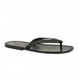 Handmade black leather thongs sandals for men