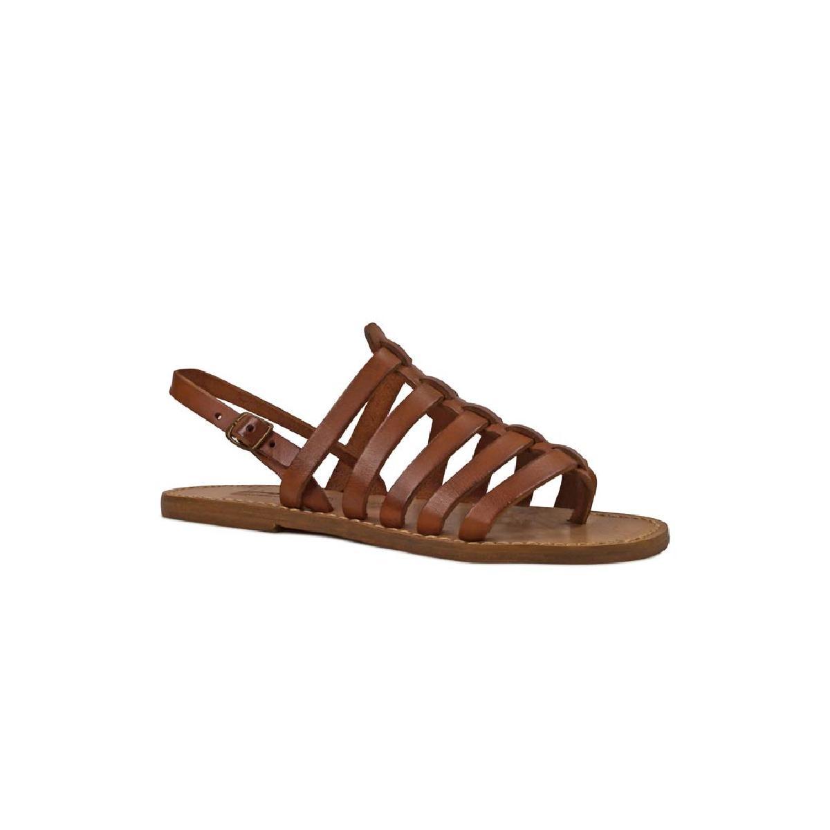 sandals tongs femme en cuir coulor cuir pas cher gianluca l 39 artisan du cuir. Black Bedroom Furniture Sets. Home Design Ideas