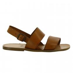 Handgefertigte Franziskaner-Sandalen für Männer aus Leder