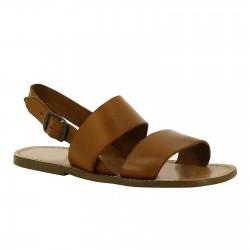 Sandales franciscains en cuir marron claire pour homme
