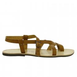 Handgefertigte braune Sandalen herren mit Gummisohlen
