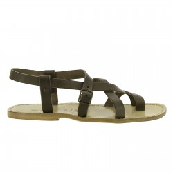 Gladiatoren sandalen aus echtem schlamm Rinderleder