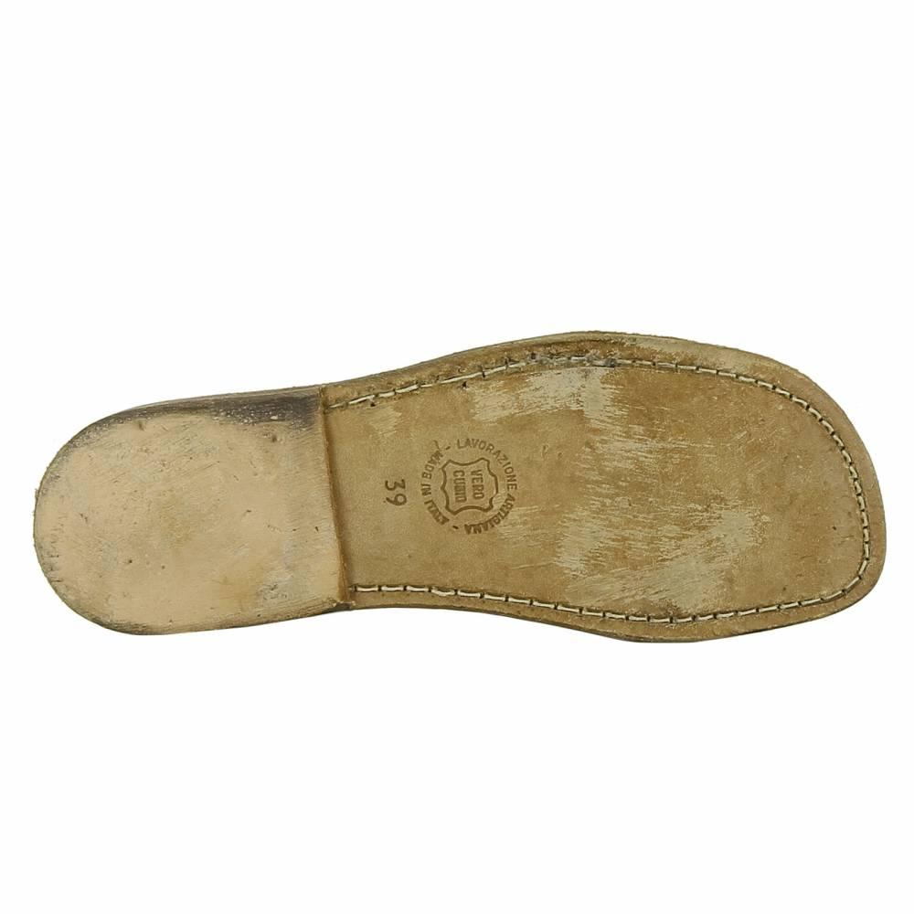 sandale spartiate tong en cuir effet vintage pour femme. Black Bedroom Furniture Sets. Home Design Ideas