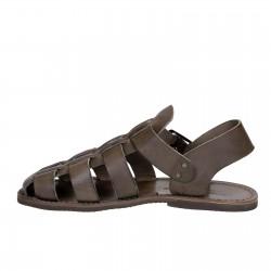 Sandalias franciscanas para hombre en cuero colores barro