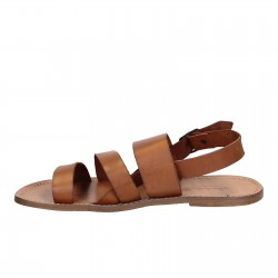 Sandales de moin en cuir naturel artisanales fait en Italie