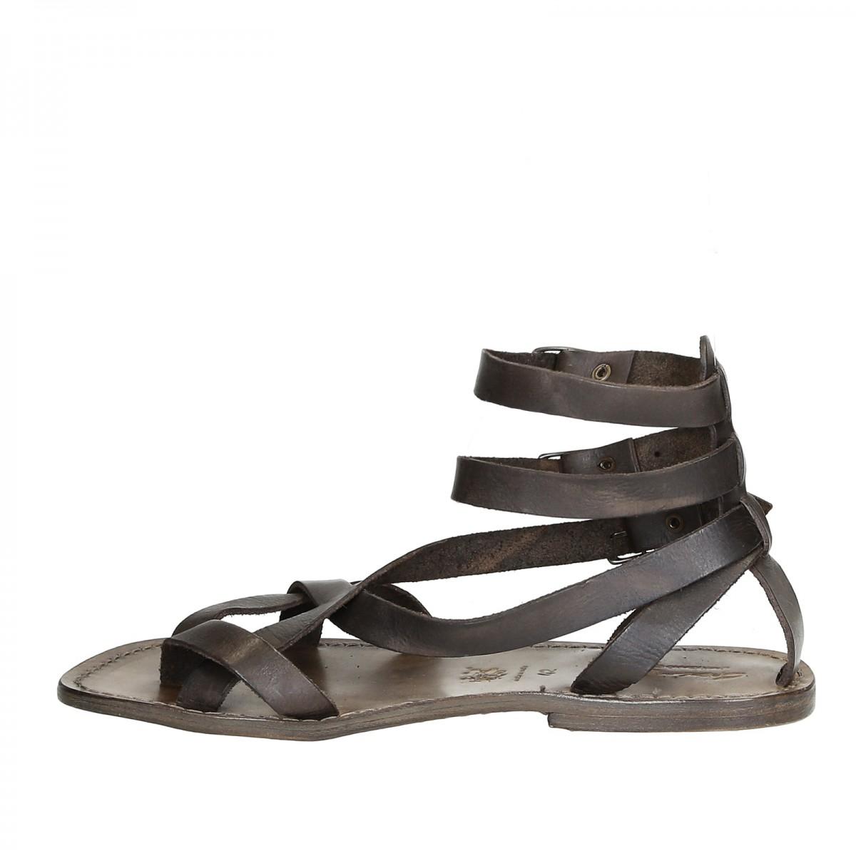 8f802aeb90d ... Men s mud color gladiator sandals Handmade in Italy ...