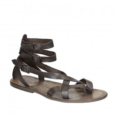 Sandale style gladiateur homme en cuir boue artisanales