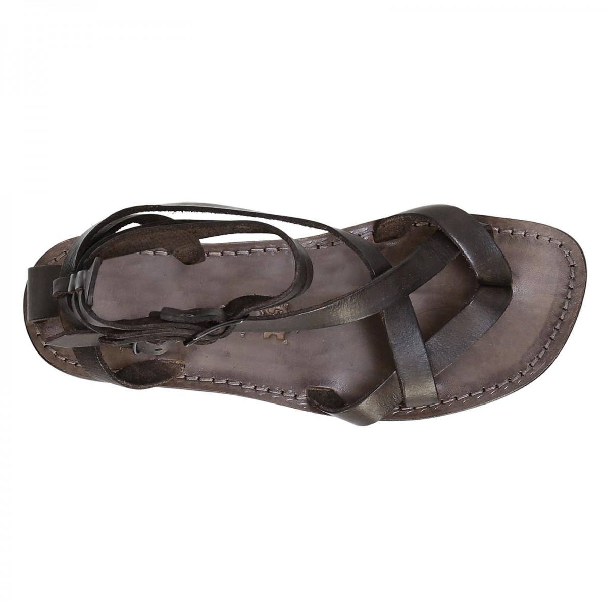 gladiator herren sandalen aus schlamm leder in italien von handgefertigt gianluca das leder. Black Bedroom Furniture Sets. Home Design Ideas