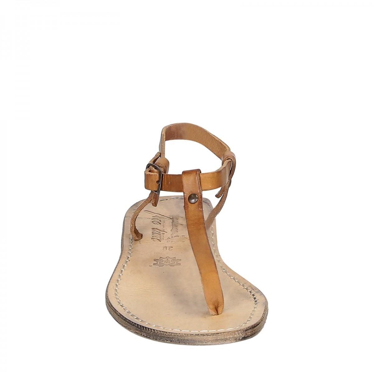 handgefertigte italienische sandalen aus hellbraunem vintage effekt leder gianluca das leder. Black Bedroom Furniture Sets. Home Design Ideas