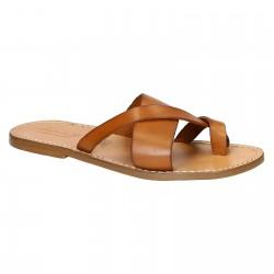 Sandalias de cuero italiano tangas para hombres