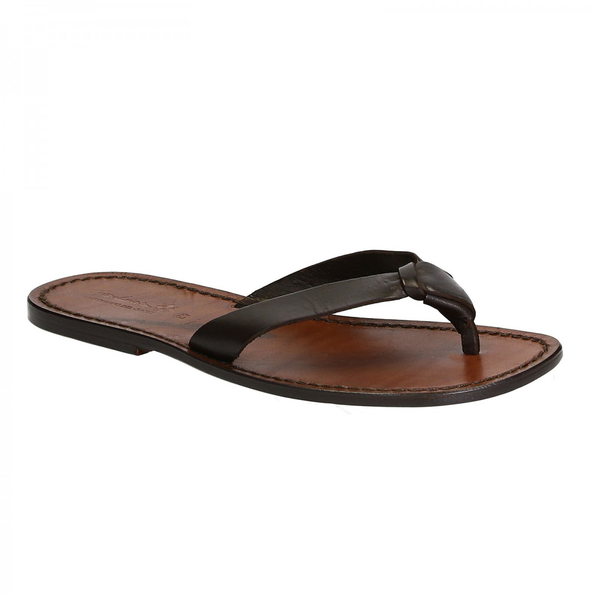 cfab0451f Handmade leather thongs for men with leather sole. Loading zoom