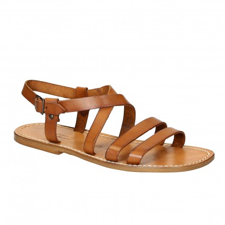 Handmade in Italy Franciscan mens sandals in vintage cuir leather