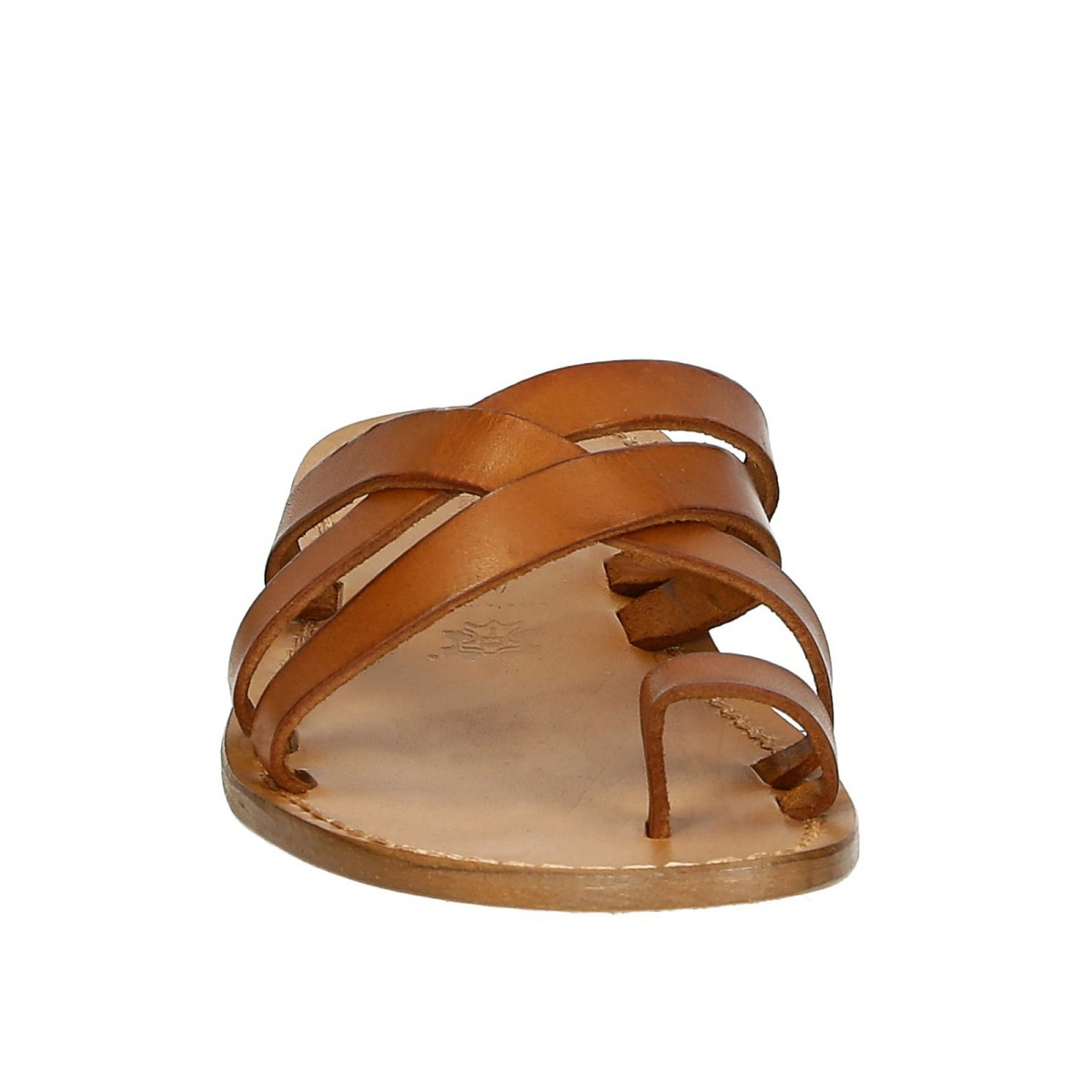 Mens Leather Thong Sandals Handmade In Italy In Vintage