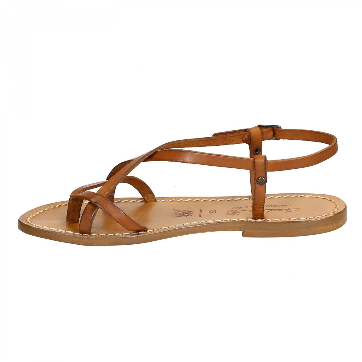 0e6d93048bd2 Loading zoom · Women s leather sandals Handmade in Italy in vintage cuir.  Previous. Next