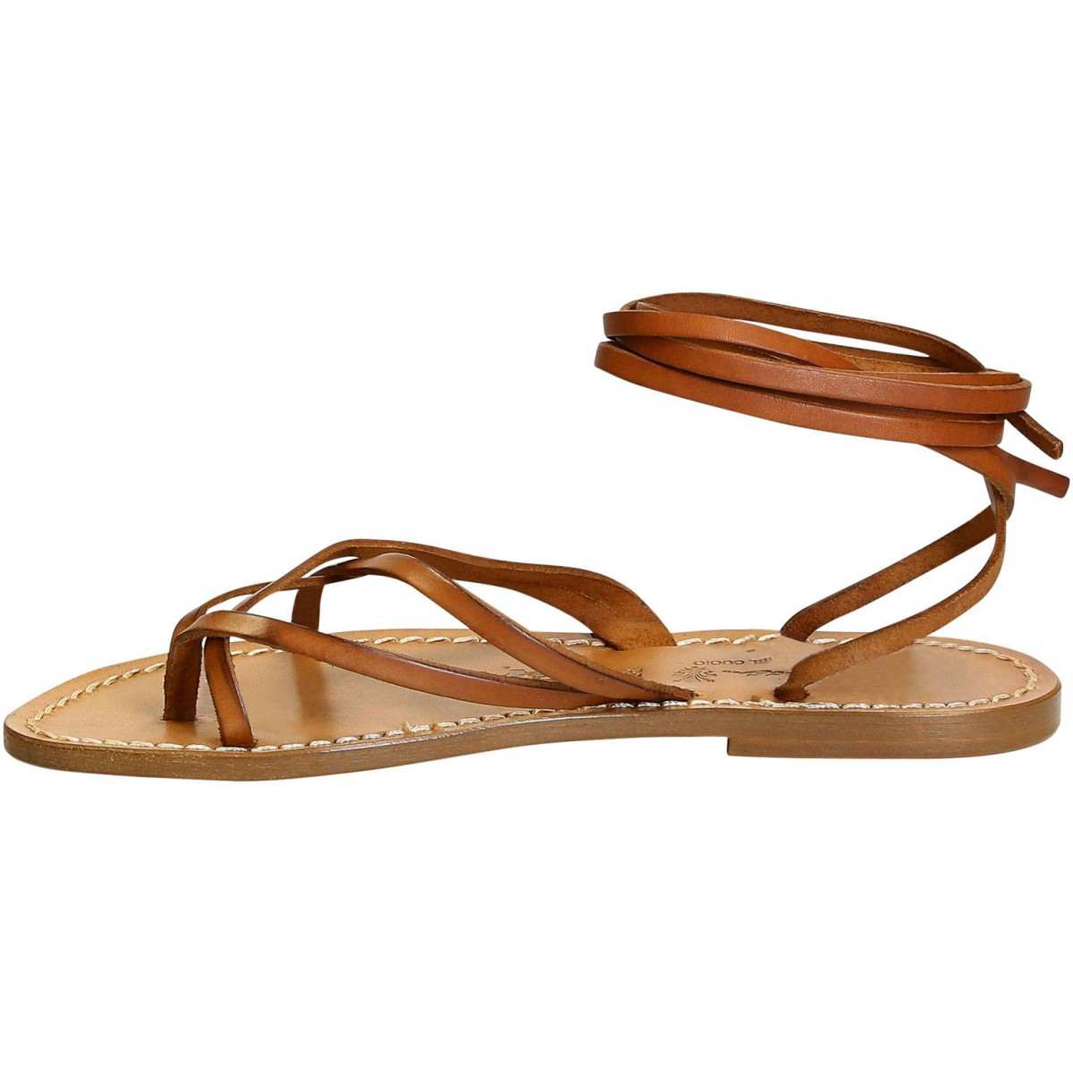 c3f35c5b1bec Loading zoom · Women s vintage cuir strappy leather sandals handmade in  Italy. Previous. Next