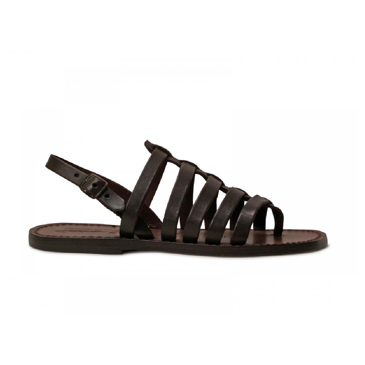 Awesome Women Leather SandalGreek Handmade Summer FlatsGladiator Sandals