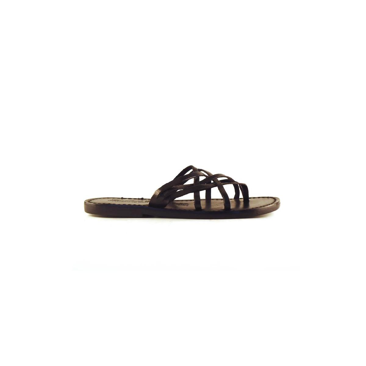 b8bdc6cf44a60 Handmade black braid leather womens slippers thongs with leather sole.  Previous. Next