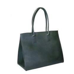 Brown leather tote bag for women Handmade